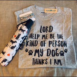 Dog T-shirt & Umbrella